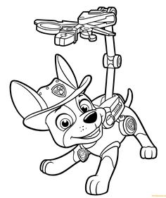 Paw Patrol Coloring Pages To Print. Kids love Paw Patrol, the characters in these movie very popular among children. That's why they also will loove these paw p Halloween Coloring Pages, Cartoon Coloring Pages, Christmas Coloring Pages, Animal Coloring Pages, Coloring Pages To Print, Coloring Book Pages, Coloring Pages For Kids, Coloring Sheets, Kids Coloring