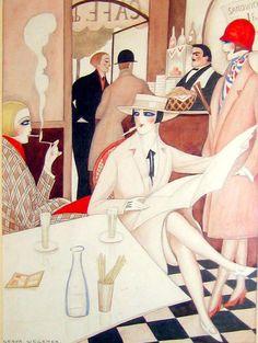"""""""Cafe"""" by Gerda Wegener, c. 1925"""
