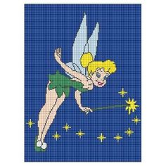 TINKERBELL WITH WAND CROCHET AFGHAN PATTERN GRAPH .PDF