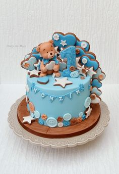Cake for birthday - cake by Cakes by Toni Cake 1 Year Boy, 1 Year Old Birthday Cake, 1 Year Old Cake, Girly Birthday Cakes, 1st Birthday Cake For Girls, Birthday Cake For Women Elegant, Mini Wedding Cakes, Baby Girl Cakes, Birthday Cake Decorating