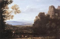 The Athenaeum - Landscape with Apollo and Mercury (Claude Lorrain (Gellée) - )