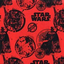 Star Wars 3 Danger Red Darth Vader 100% Cotton Fabric Camelot Cottons Retro FQ