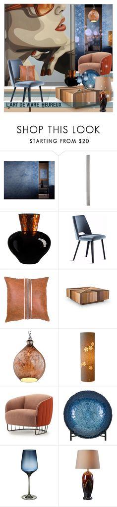 """L'ART DE VIVRE HEUREUX"" by nicolevalents ❤ liked on Polyvore featuring interior, interiors, interior design, home, home decor, interior decorating, Improvements, BIVAIN, Urbia and Varaluz"