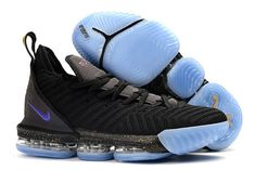 online store 9f8cd 5a2e9 Mens Nike LeBron 16 Chameleon Black Blue Basketball Shoes-1 Lebron 16, Nike  Lebron