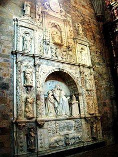 Diego de Siloe. Retablo-sepulcro para Don Rodrigo de Mercado (1530-40) Realizado en Granada para la parroquia de Oñate.