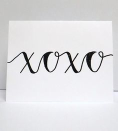 """XOXO"" Cards  by Modern Memo on Scoutmob Shoppe"