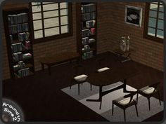 Around the Sims 2 | Objects | Dining-room | Wenge