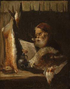 PURKYNĚ Karel   Obchodník se zvěří   1. pol. 19. století, olej, karton, 11,5 × 9 cm Polo, Painting, Paper Board, Polos, Painting Art, Paintings, Painted Canvas, Tee, Drawings
