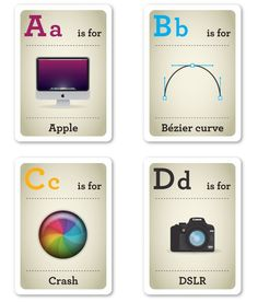 Design Nerds Flash Cards, A Geeky Way For Kids To Learn Their ABC's