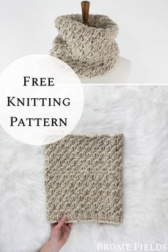 Get the texture of cables without a cable needle knit stitch! Designer Knitting Patterns, Easy Knitting Patterns, Loom Knitting, Knitting Stitches, Free Knitting, Knitting Projects, Stitch Patterns, Cowl Patterns, Knitting Tutorials