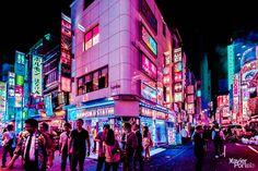 xavier portela saturates tokyo's sidewalks, streets and sights in pink xavier p. xavier portela saturates tokyo's sidewalks, streets and sights in pink xavier portela saturates tokyo's Rwby, Tokyo Ville, Ville Rose, Neon Noir, Surreal Photos, Photographs, Tokyo Streets, Neon Aesthetic, Night Photography