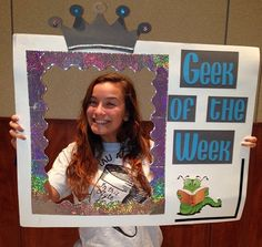 """Eta Gamma Chapter (West Chester University) awards a """"Geek of the Week"""" for a sister that gets a high grade on a test, paper, project, etc.!"""