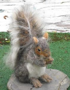Handmade OOAK Needle Felted Animal / Squirrel by GourmetFelted