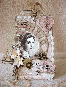 Inky Angel: Tiime To Follow Your Heart ~ Ribbon Girl January Challenge