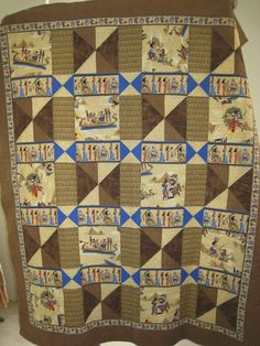 Used Luxor pattern and Egyptian themed fabric.  I call this Love in the Desert.