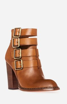 Gorgeous camel tone strappy boots from Chinese Laundry