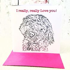 Cute Valentines Day card, Blank card, Valentine's Day, Valentine's Day Card, Valentines Day card from the dog, Valentines Day, Love you card