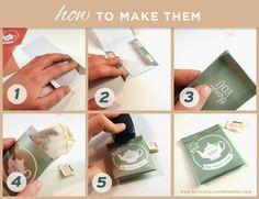DIY Tea Bag Favors