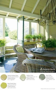 Timothy Straw, Split Pea, Guilford Green + High Park are all wonderfully complementary of each other for an indoor/outdoor seating area. [ad] #ad