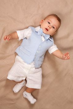 Baby boy ring bearer outfit boy baptism linen suit par Graccia