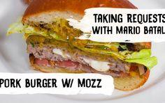 Pork and Mozzarella Pocket Burgers  |  Mario Batali