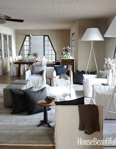 Casual and Crisp Living Room
