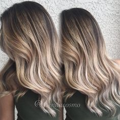 """This B L O N D E  M E L T  Balayage/Ombre Pop the on this girly , yes her hair was virgin!!  gave her a dark roots for low maintenance and this…"""