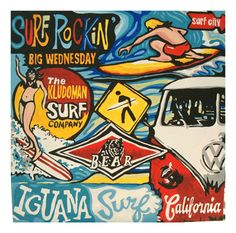 Great Surf Collage from Kludoman Signature Collage Paintings
