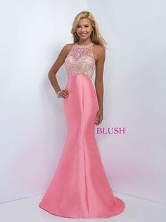 Purple Soft Mermaid Prom Dress-Crystals on Neckline and Back-Train