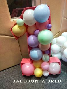 Hot Air Balloon, Party Themes, Balloons, Pastel, Rainbow, Clouds, Number, Rain Bow, Globes
