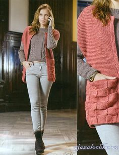 Вязание для женщин – жилет и свитер спицами