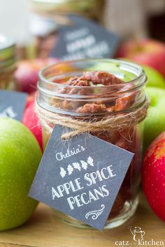 Apple Spice Pecans | Catz in the Kitchen | catzinthekitchen.com | #apple #fall #pecans