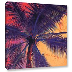 You'll love the Palm Tree Sunset Painting Print on Wrapped Canvas at Wayfair - Great Deals on all Décor  products with Free Shipping on most stuff, even the big stuff.