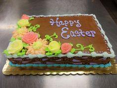 Chocolate Butter Cream - Spring Flowers - Easter Cake - Erin Miller Cakes - https://www.facebook.com/erinmillercakes
