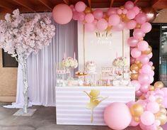 Pink Ballerina Birthday Party on Kara's Party Ideas   (11) - #painting #oil #oilpaintin #art