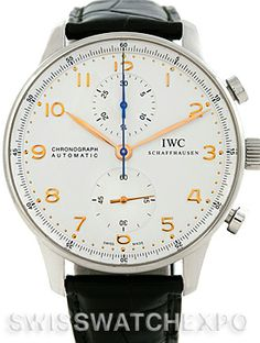 The IWC Portuguese Chrono Automatic Steel Mens Watch IW371445 is as beautiful as it is timeless.