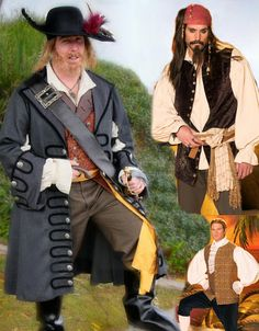 PIRATES of the Caribbean style Captain Barbossa & Jack Sparrow Cosplay Costume sewing Pattern, Simplicity 4923 Size Xs – Xl (Mens AA or BB) Jack Sparrow Cosplay, Jack Sparrow Costume, Pirate Halloween, Halloween Costumes, Pirate Costumes, Halloween 2020, Mad Hatter Costume Kids, Steampunk Patterns, Pirate Garb