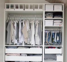 Chic and organised wardrobe