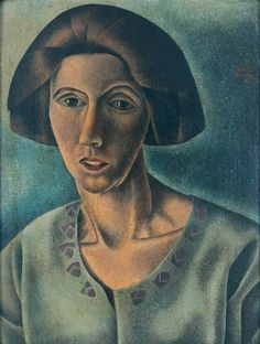 Pamela Bianco - My Mother (Margery Williams, in Maine) 1922, Oil on canvas-board, 15.75 x 12 in