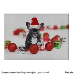 #Christmas French Bulldog #cutting #boards #food #kitchen #home #chop