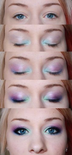 It's like mermaid makeup that you could actually wear,but maybe switch it to a smokey eye if you do not like bright colors.