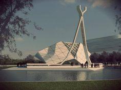 Mosque Architecture, Architecture Student, Modern Architecture, Architectural Trees, Islamic Center, Temple Design, Beautiful Mosques, Grand Mosque, Islamic Art