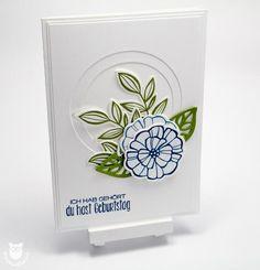 Flowery birthday greetings Falling Flowers, May Flower Framelits, Suite Sayings (Wonderful Words)   Stempelflausch