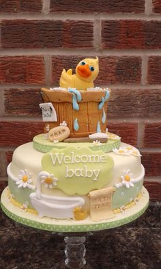 Rubber Duckie baby shower cake