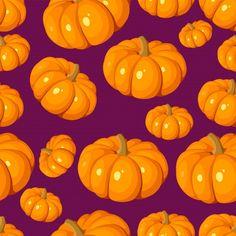 Вектор бесшовный образец с оранжевыми ты... | Premium Vector #Freepik #vector #food #halloween #nature #fruit Landscape Wallpaper, Pumpkin, Orange, Purple, Pattern, Pumpkins, Patterns, Purple Stuff, Squash