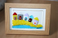 Gorgeous Summer Beach Huts  Handmade Fused glass by mysparklyglass, £16.00