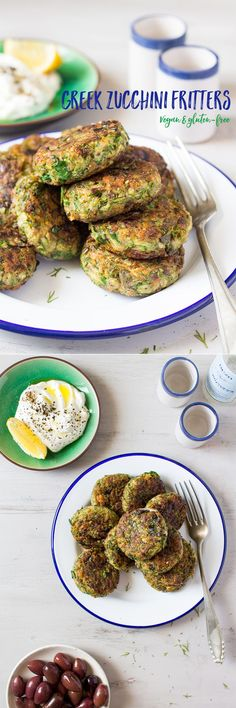#zucchini #fritters are a classic #greek #mezze dish. mine are #vegan and…