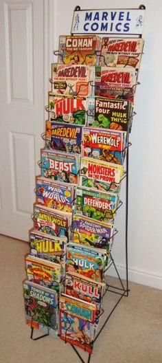 vintage marvel comics display rack