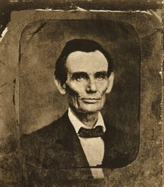 """May 27, 1857 - Although some historians have dated this photograph during the court session of November 13, 1859, and others have placed it as early as 1853, most authorities now believe it was taken on May 27, 1857. The photographer Amon T. Joslin owned """"Joslin's Gallery"""" located on the second floor of a building adjoining the Woodbury Drug Store, in Danville, IL"""