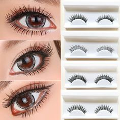 1 Pairs Natural Thick Mink False Eyelashes Maquiagem False Eyelash Beauty Makeup Fiber Crossover Extension Eyelashes Cosmeitic